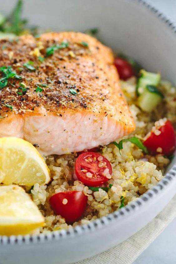 Dinner Recipes: Mediterranean Spiced Salmon and Vegetable Quinoa