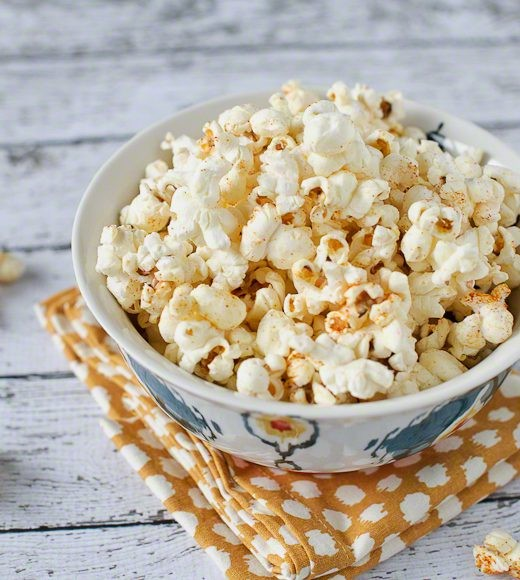 13. Sweet and Spicy Wasabi Popcorn