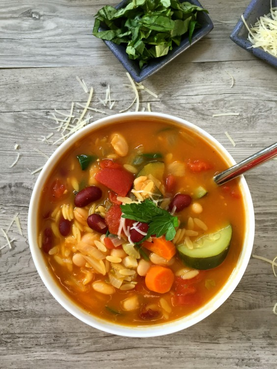 One Pot Meals: Orzo Minestrone Soup