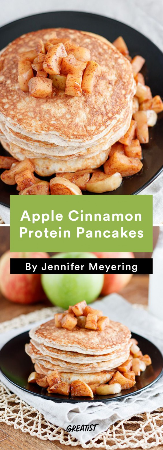 Breakfast for Dinner Recipes: Apple Cinnamon Protein Pancakes