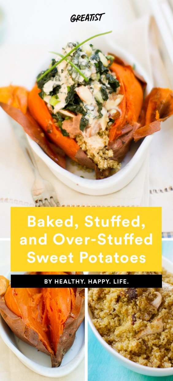 Baked Stuffed and Over-Stuffed Sweet Potatoes