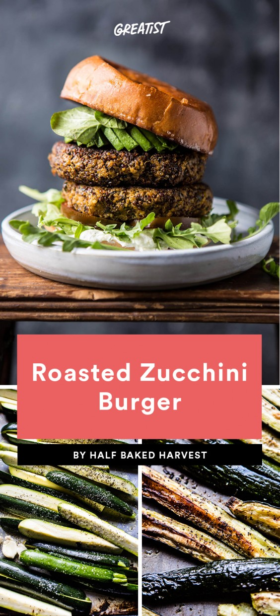 Roasted Zucchini Burger