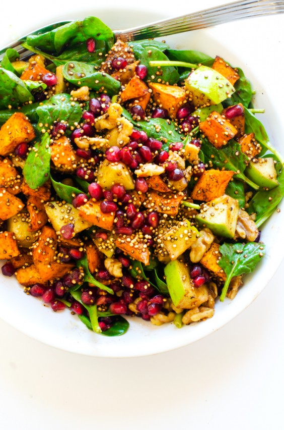 Sweet Potato, Pomegranate, and Quinoa Salad