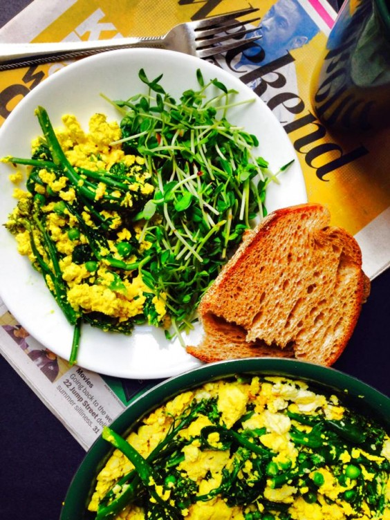 Greens Recipe: Tofu Scramble With Spring Greens