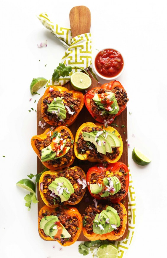 20. Spanish Quinoa-Stuffed Peppers