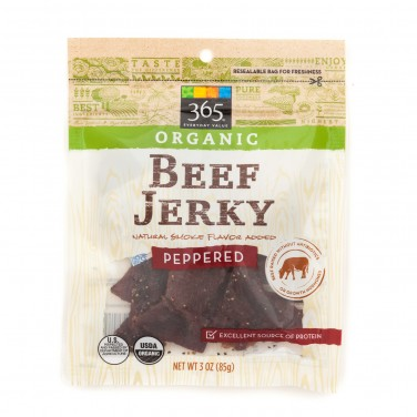 365 Everyday Value Organic Beef Jerky Peppered
