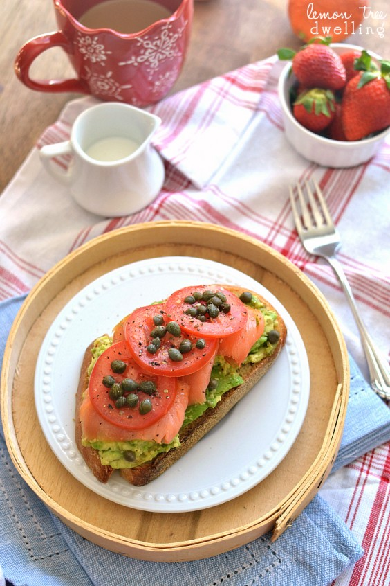 3. Lox Avocado Toast