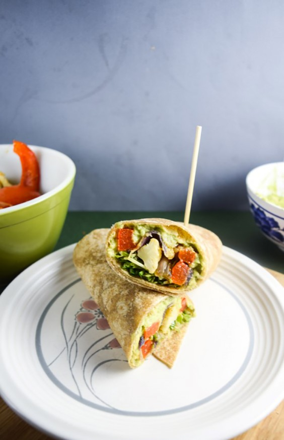 Lunch Ideas: Roasted Vegetable Avocado