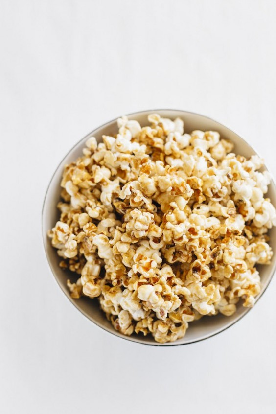 4. Healthy Salted Caramel Popcorn