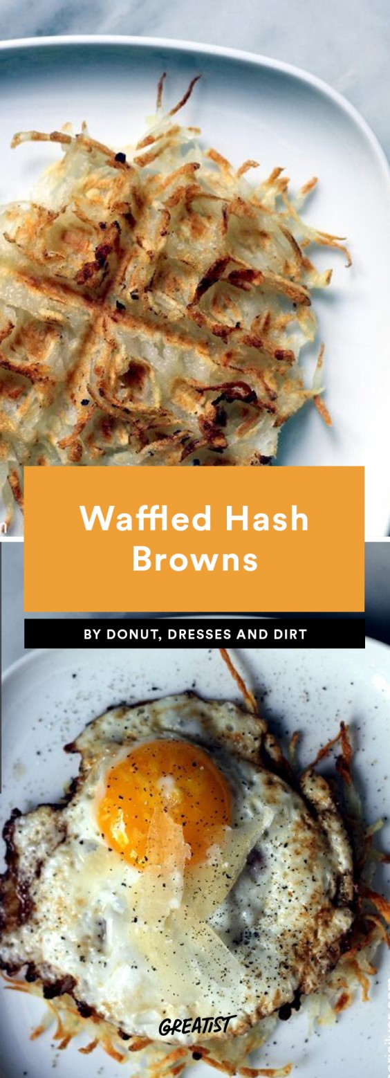 Waffled Hash Browns
