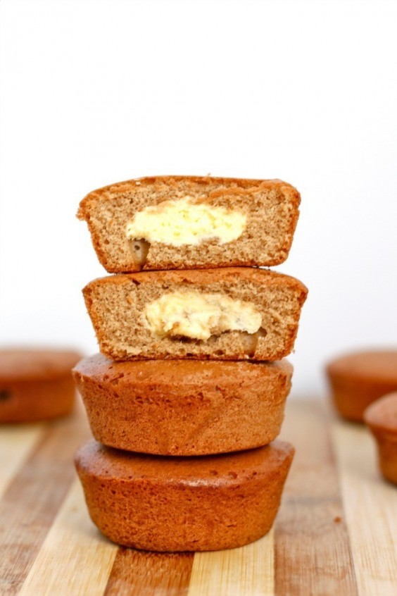 6. Healthy Pumpkin Cheesecake Muffin
