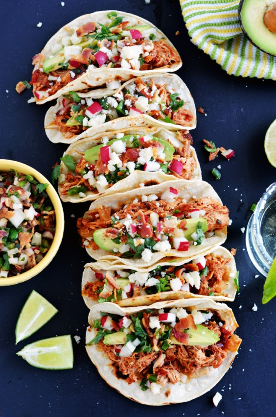 7. Chicken Tinga Tacos With Bacon Pico De Gallo