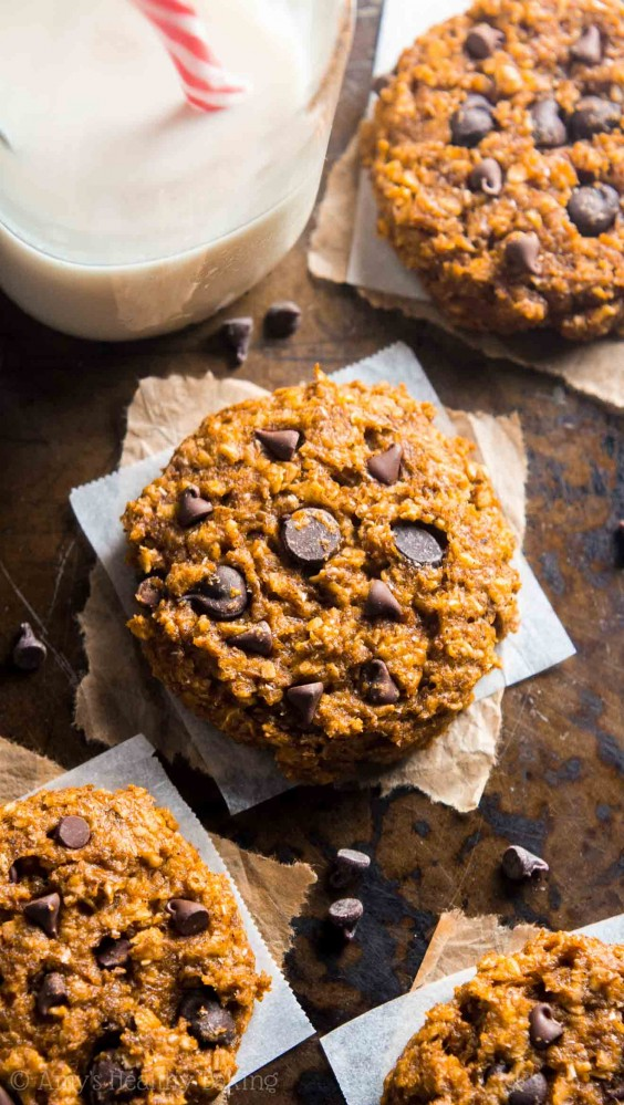 7. Pumpkin Pie Chocolate Chip Oatmeal Cookies