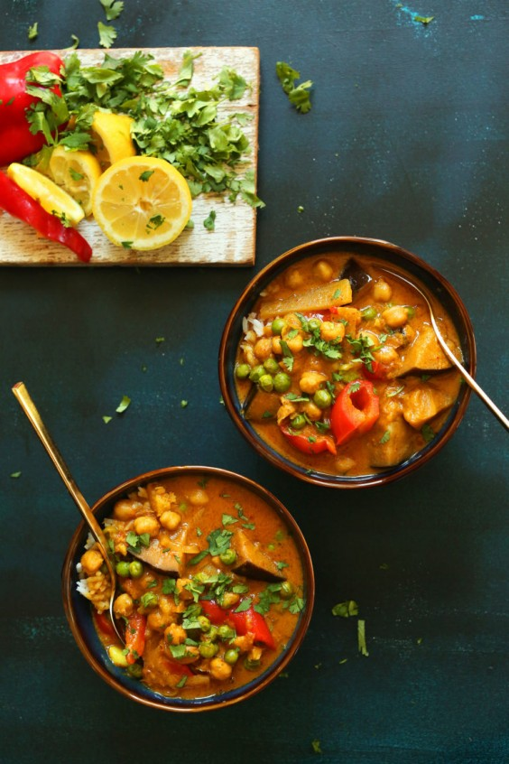 Coconut Red Curry with Chickpeas