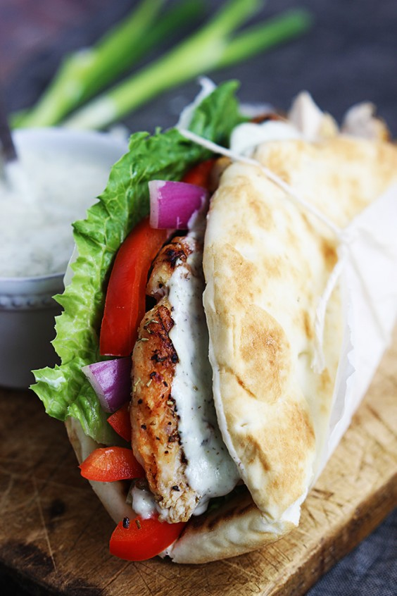 Dinner Recipes: Easy Chicken Gyros With Tzatziki Sauce