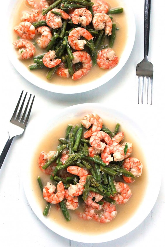 Whole30 Dinner Recipes: Shrimp and Asparagus Stir-Fry