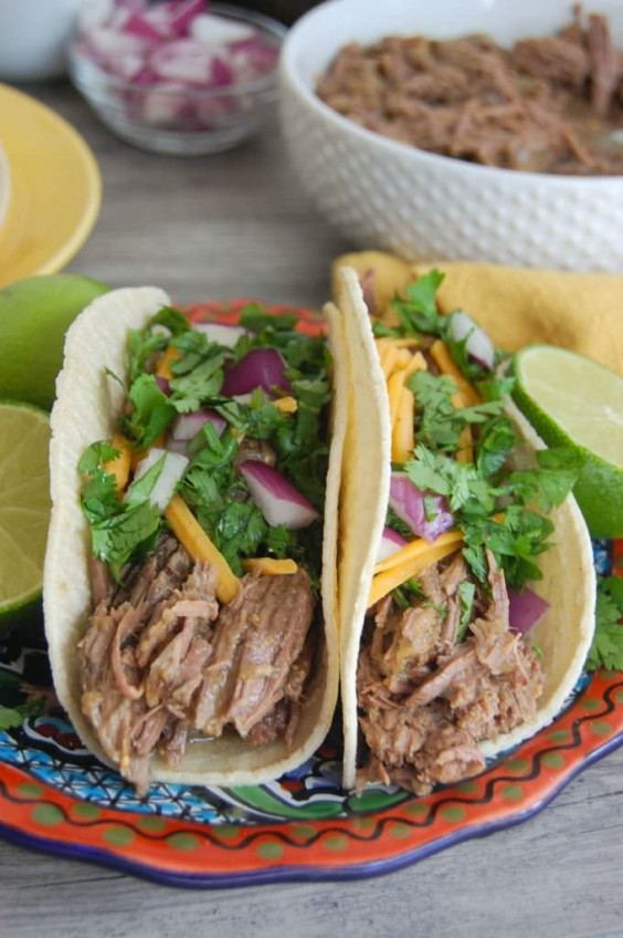 4. Slow Cooker Shredded Beef Tacos