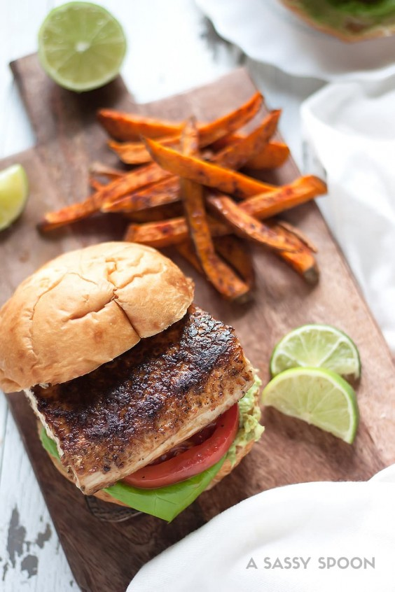 8. Blackened Mahi-Mahi Sandwich