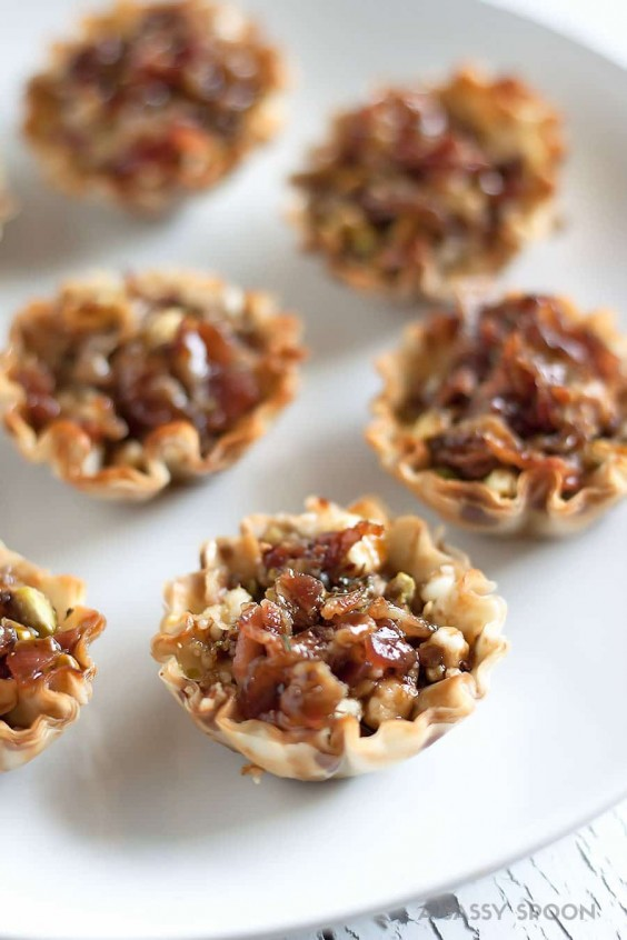 14. Honey Balsamic Bacon Goat Cheese and Pistachio Bites