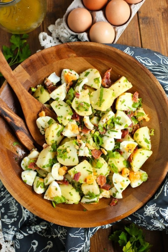 8. No-Mayo Potato Salad With Herbed Bacon and Eggs