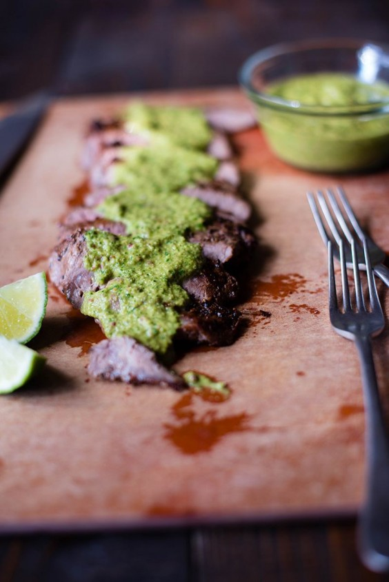 6. Flank Steak With Chimichurri Sauce