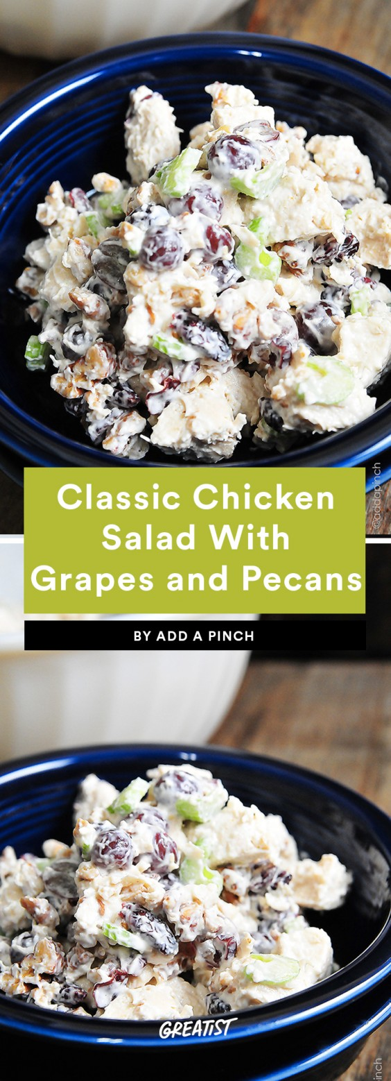 2. Chicken Salad With Grapes and Roasted Pecans