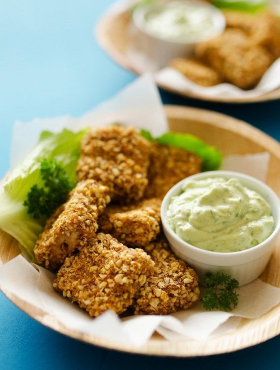 Tofu Recipes: Almond Crusted Tofu Nuggets