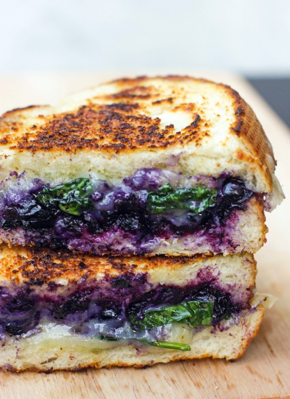 1. Balsamic Blueberry Grilled Cheese