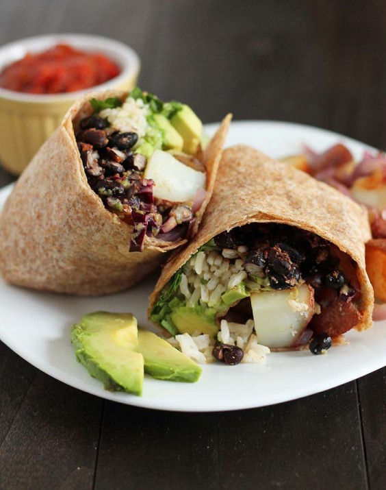 Cooking For Two: Black Bean, Potato, and Avocado Breakfast Burrito Recipe