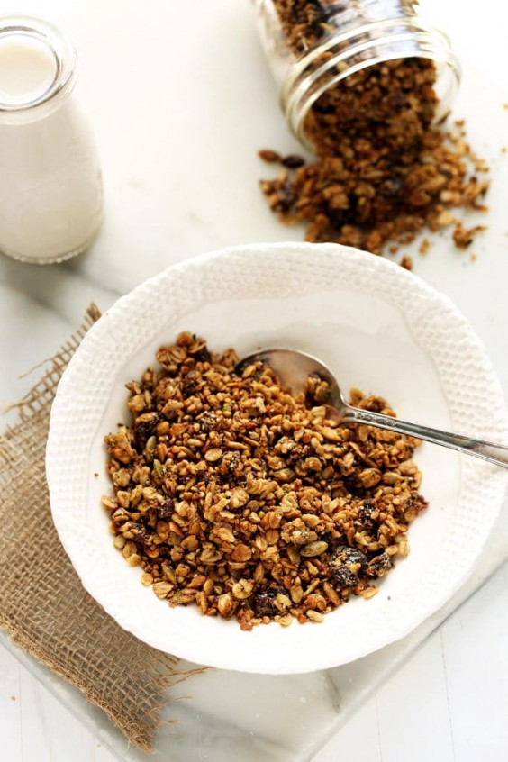 3. Dried Cherry, Sunflower Butter, and Buckwheat Granola