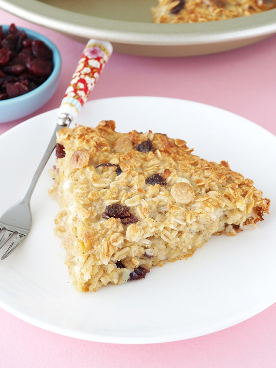 4. Cranberry Cottage Cheese Baked Oatmeal