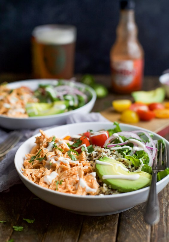 1. Buffalo Chicken Quinoa Bowls