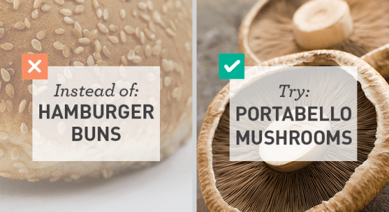Low Carb: Hamburger buns for Portabello mushrooms