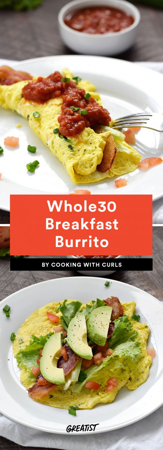 Whole30 Breakfast Burrito