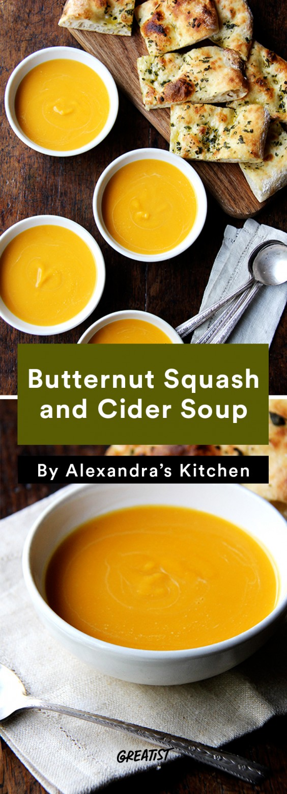 2. Butternut Squash and Cider Soup