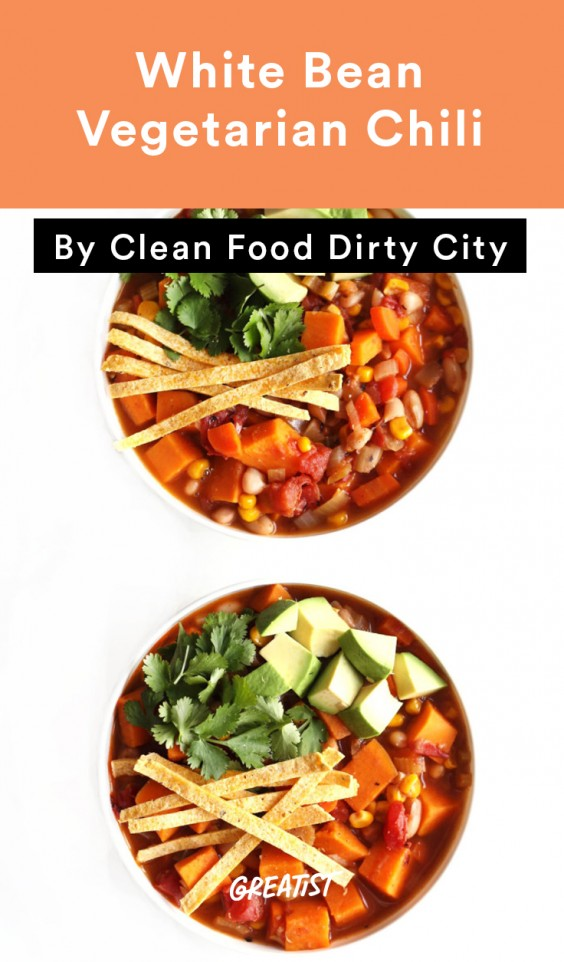 1. White Bean Vegetarian Chili