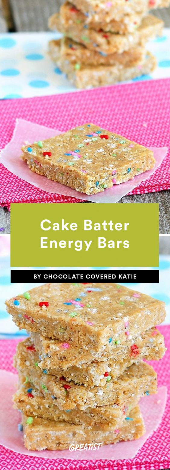 2. Cake Batter Energy Bars