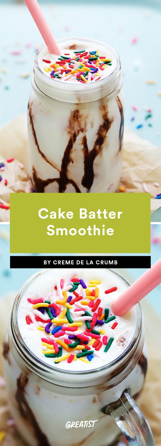 1. Cake Batter Smoothie