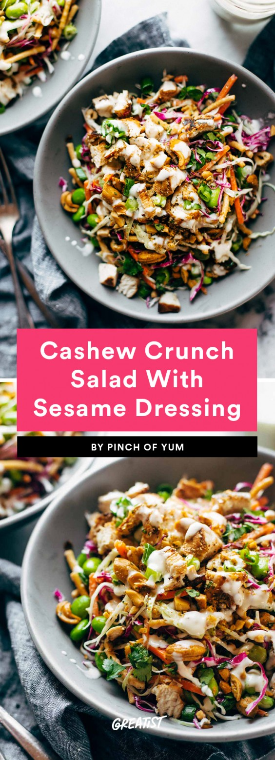 1. Cashew Crunch Salad With Sesame Dressing