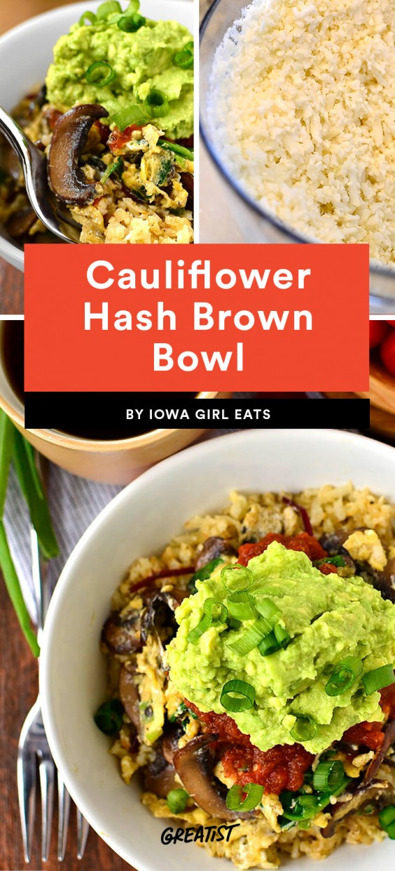 Cauliflower Hash Brown Bowl