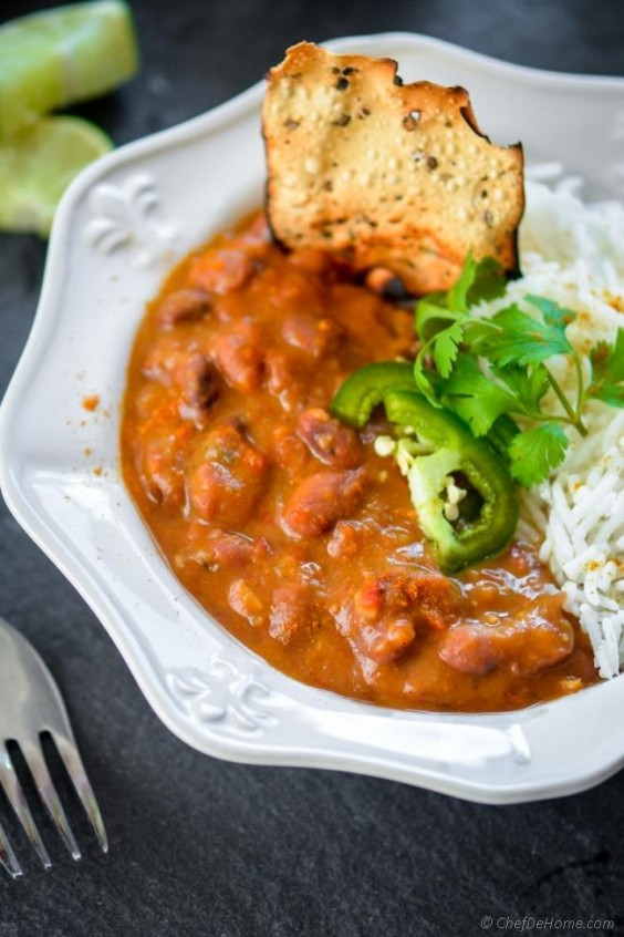 8. Creamy Curry Slow Cooker Beans