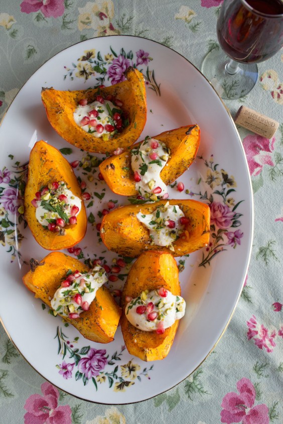 12. Roasted Kabocha With Tahini Dressing