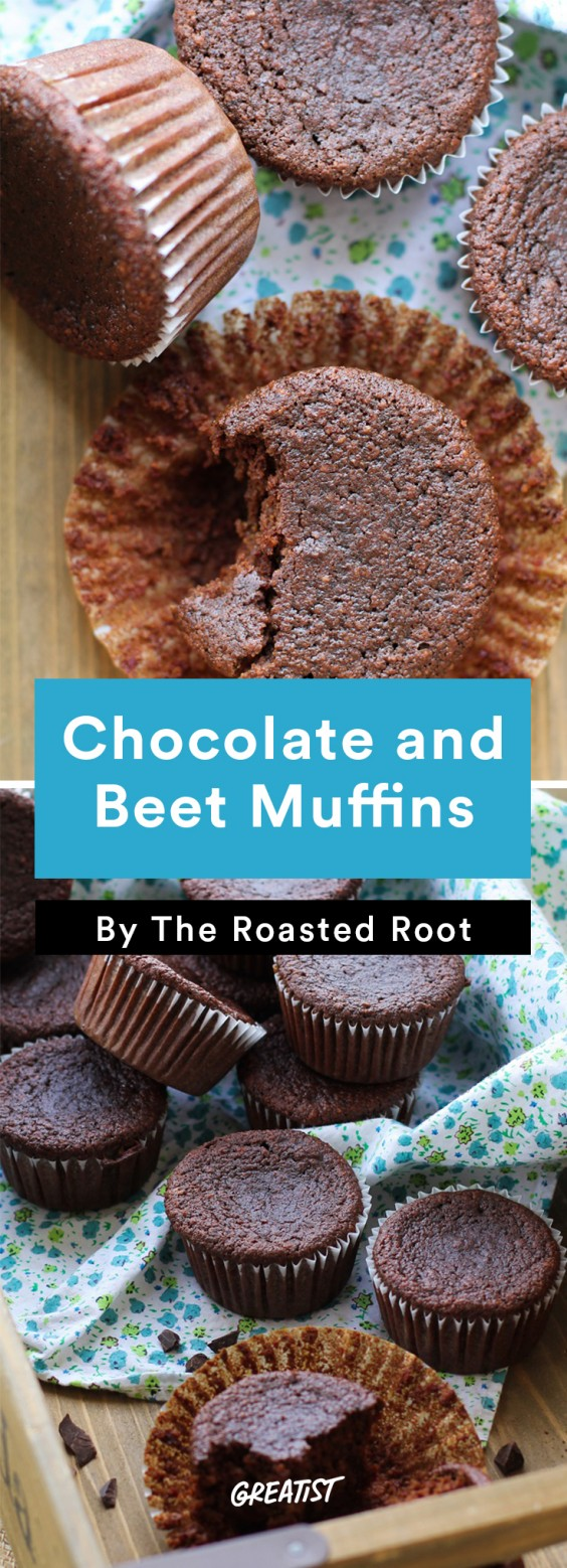 Brunch Recipes: Chocolate and Beet Muffins
