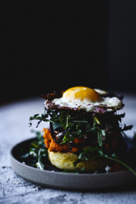 1. Kabocha Squash and Fried Egg Breakfast Sandwich