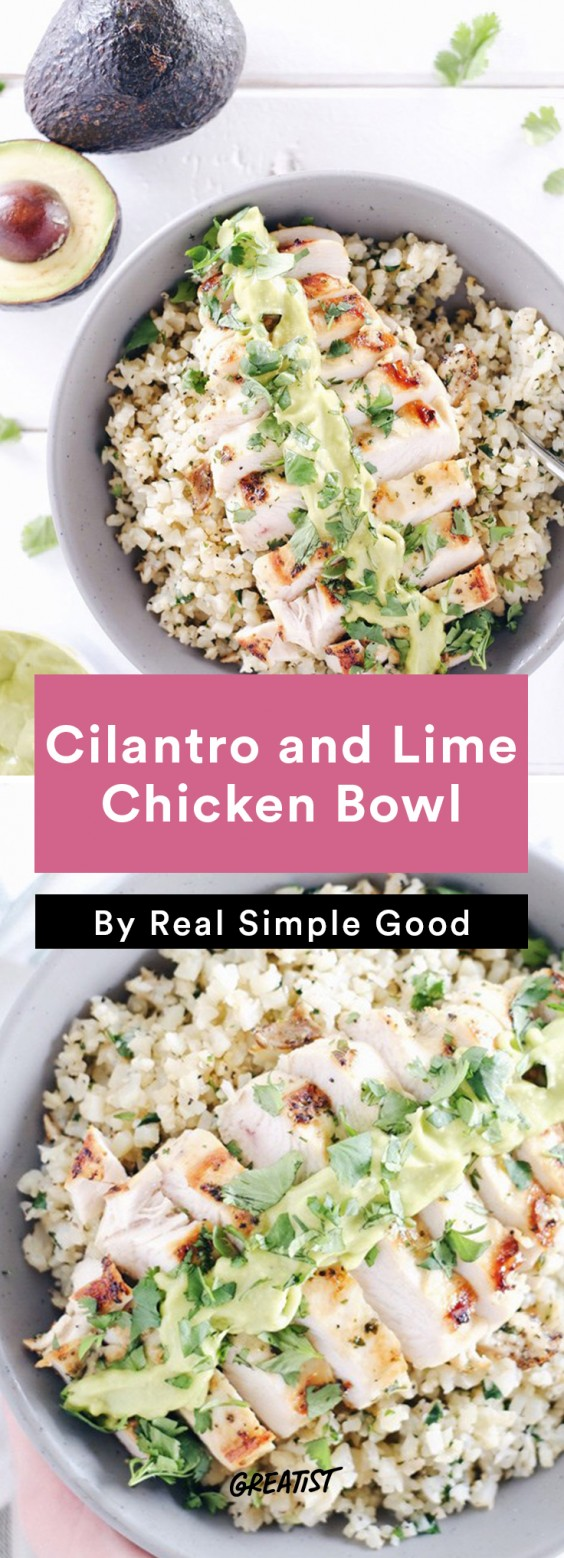Real Simple Good Dinner: Chicken bowl