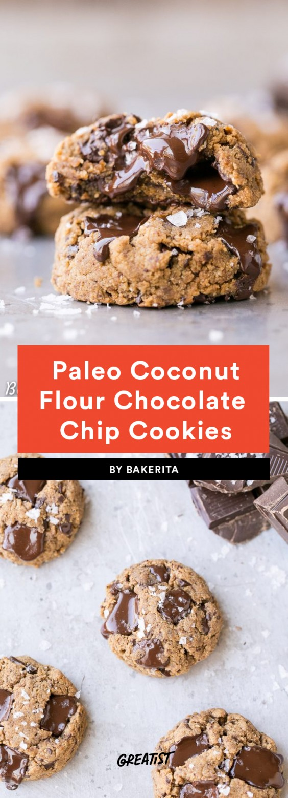 1. Coconut Flour Chocolate Chip Cookies