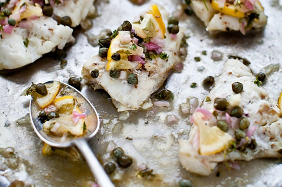 Cod with Lemon Caper Relish