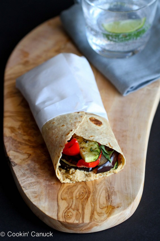 12. Grilled Vegetable Wrap With Hummus