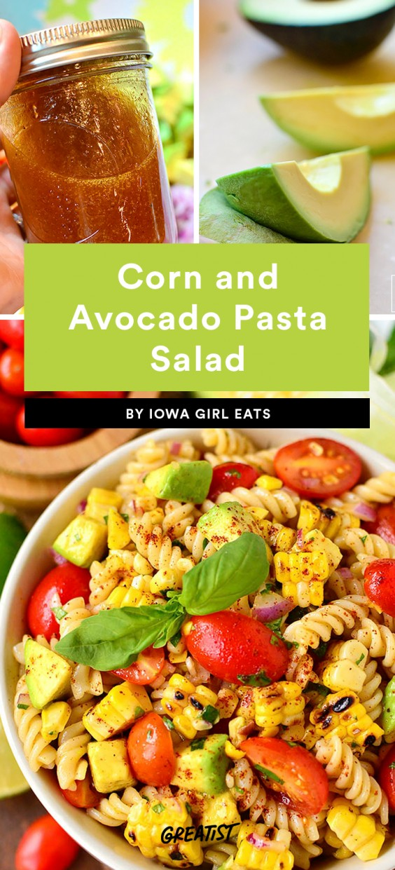 Corn and Avocado Pasta Salad