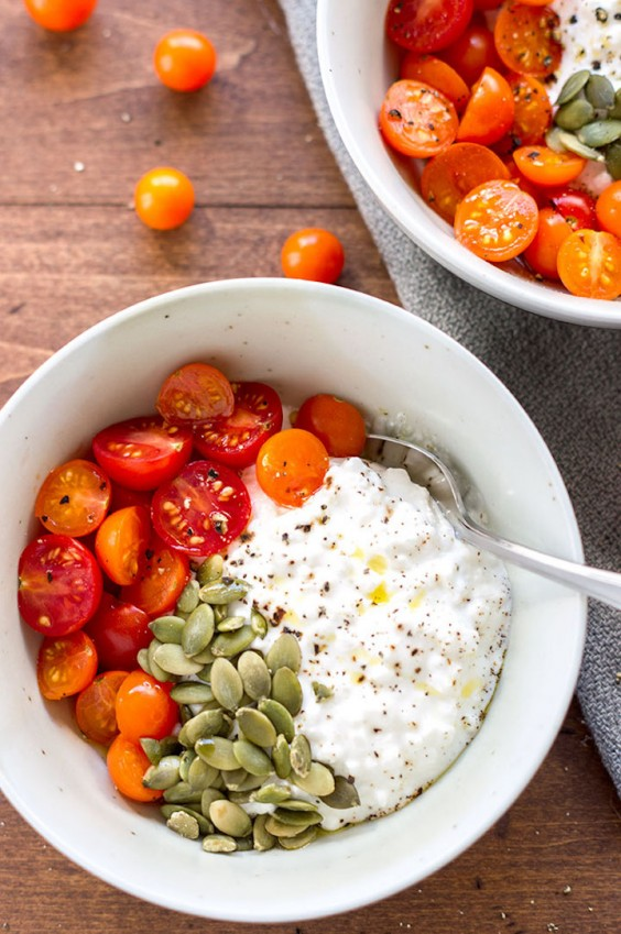 13. Cottage Cheese With Tomatoes and Pepitas